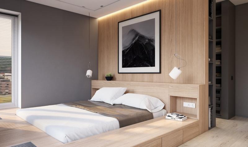 Прикроватные тумбы в спальне в современном стиле 5