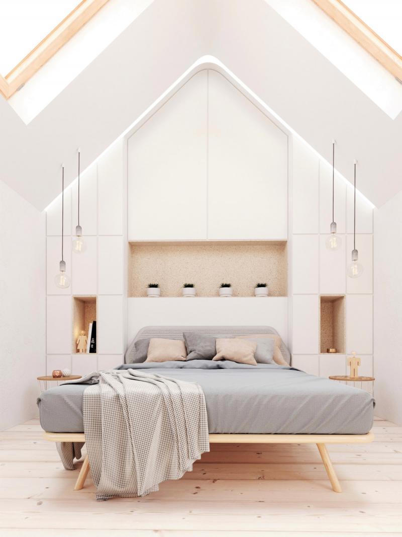 Шкаф в спальне в современном стиле 1