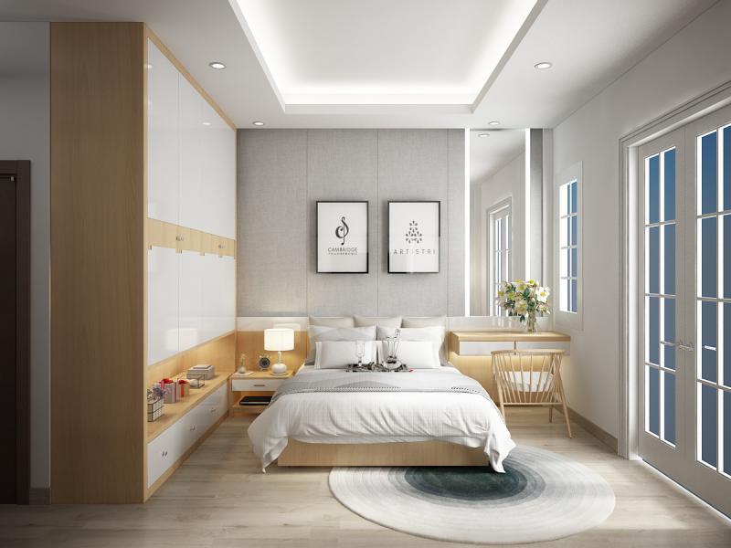 Шкаф в спальне в современном стиле 2