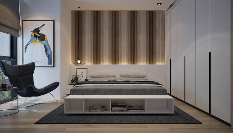 Шкаф в спальне в современном стиле 3