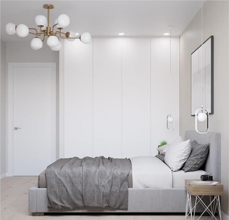 Шкаф в спальне в современном стиле 5