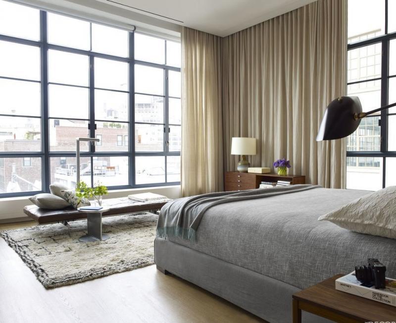 Шторы для спальни в современном стиле 1