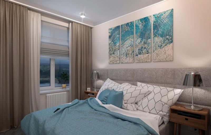 Шторы для спальни в современном стиле 3