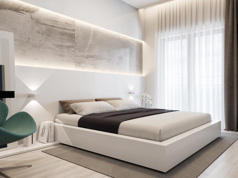 Шторы для спальни в современном стиле 4