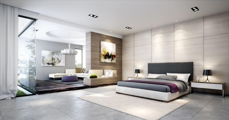 Спальня-гостиная в современном стиле 1