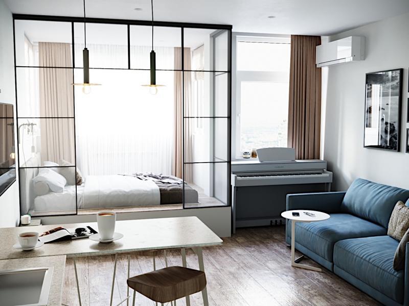 Спальня-гостиная в современном стиле 2
