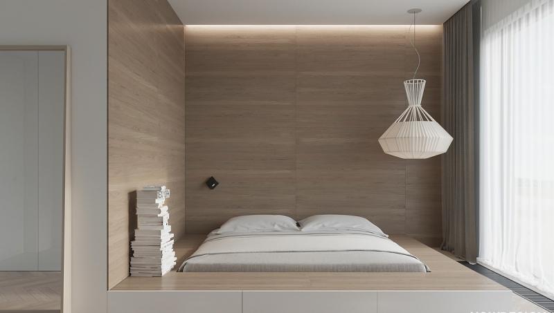 Стены в спальне в современном стиле 3