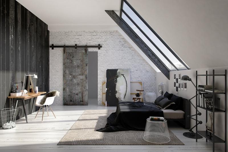 Стены в спальне в современном стиле 5