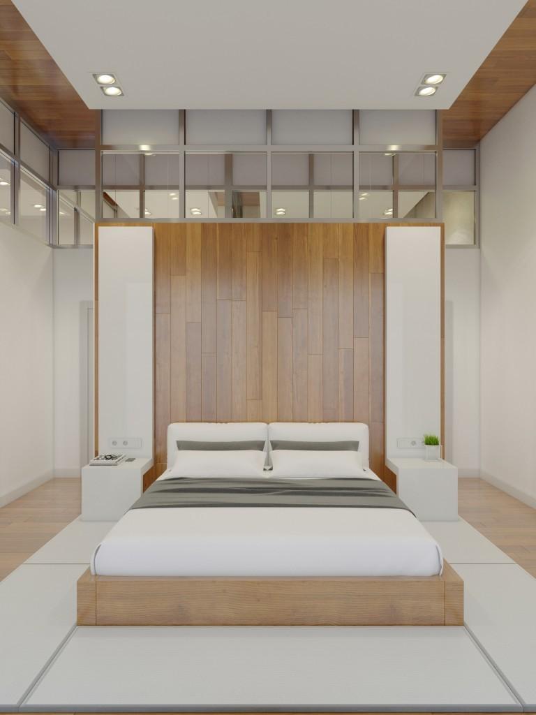 Стены в спальне в современном стиле 6