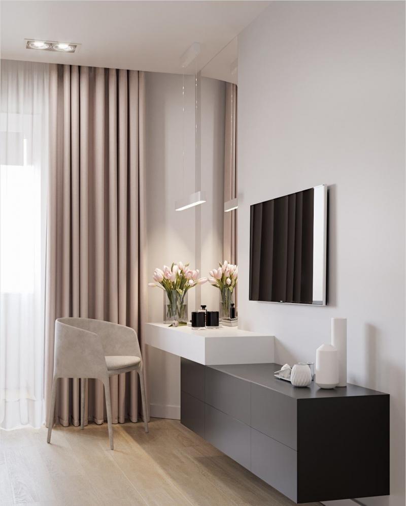 Туалетный столк в спальне в современном стиле 2