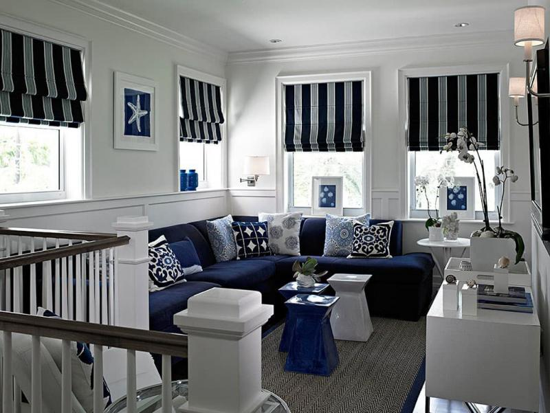 Римcкие шторы в морском стиле 3