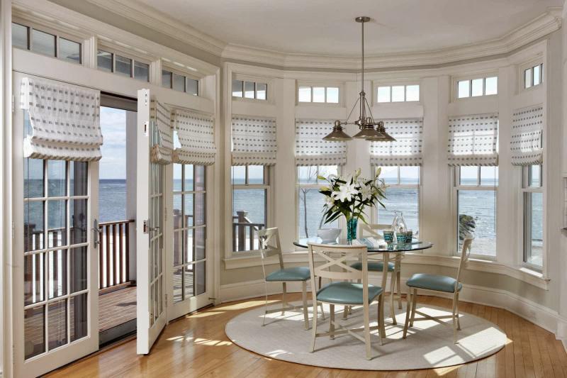 Римcкие шторы в морском стиле 4