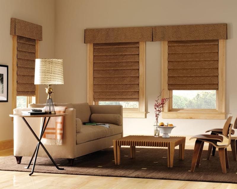 Римские шторы для гостиной 1