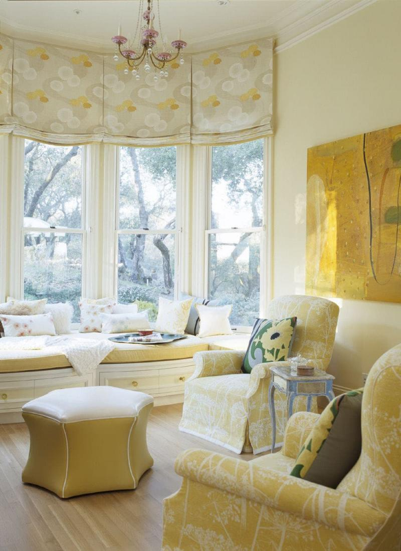 Римские шторы для гостиной 4