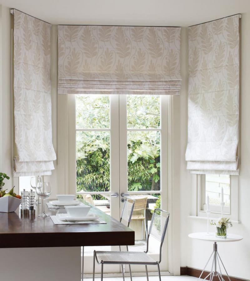 Римские шторы для кухни 6