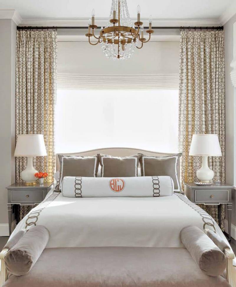 Римские шторы для спальни 2
