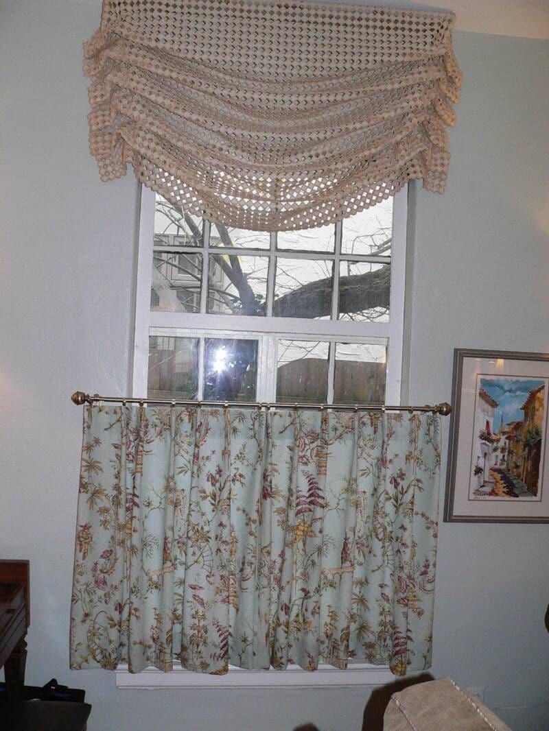 Римские шторы в стиле ретро 1