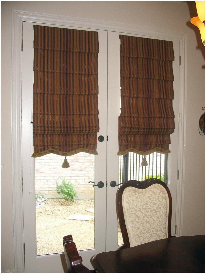 Римские шторы в стиле ретро 2