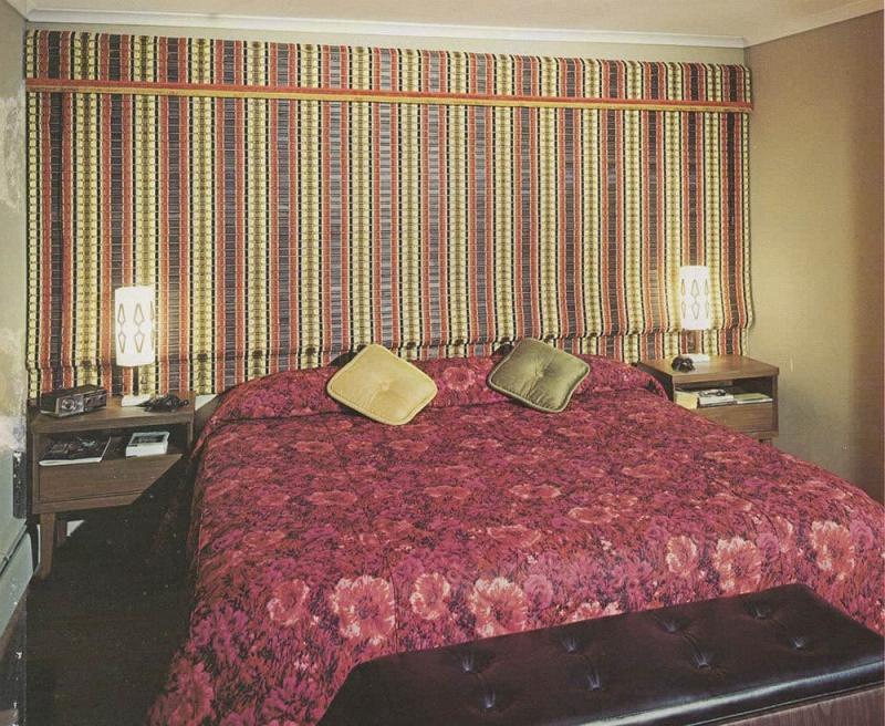 Римские шторы в стиле ретро 6
