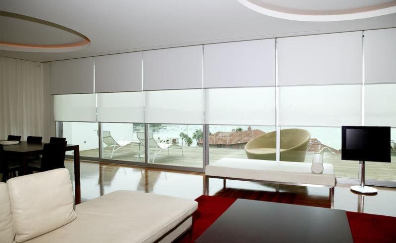Комбинированные рулонные шторы 1