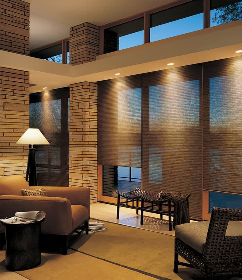 Комбинированные рулонные шторы 7