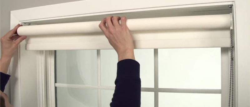 Открытый тип рулонных штор 1