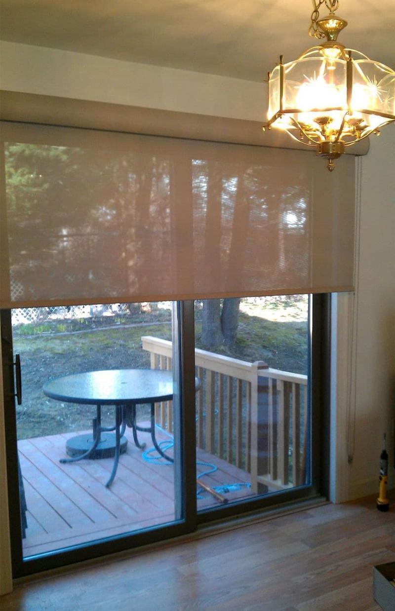 Рулонные шторы для панорамных окон 4