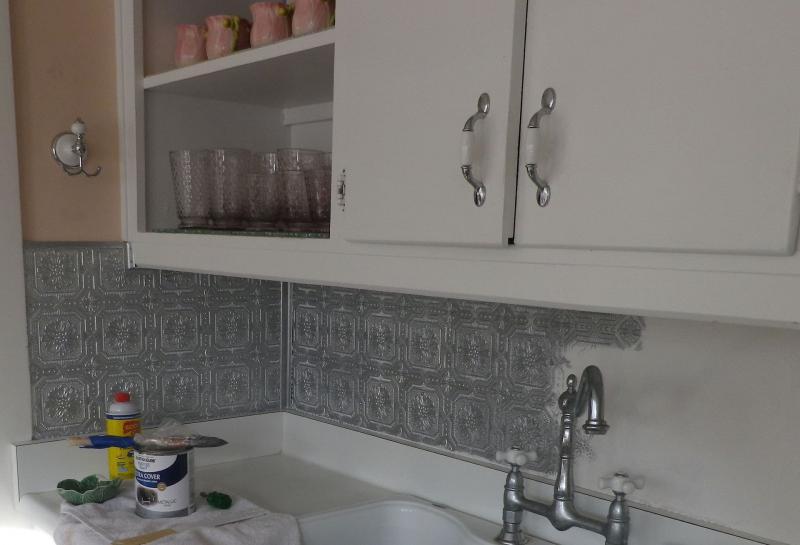 Фартук для кухни (крашеная стена) 7