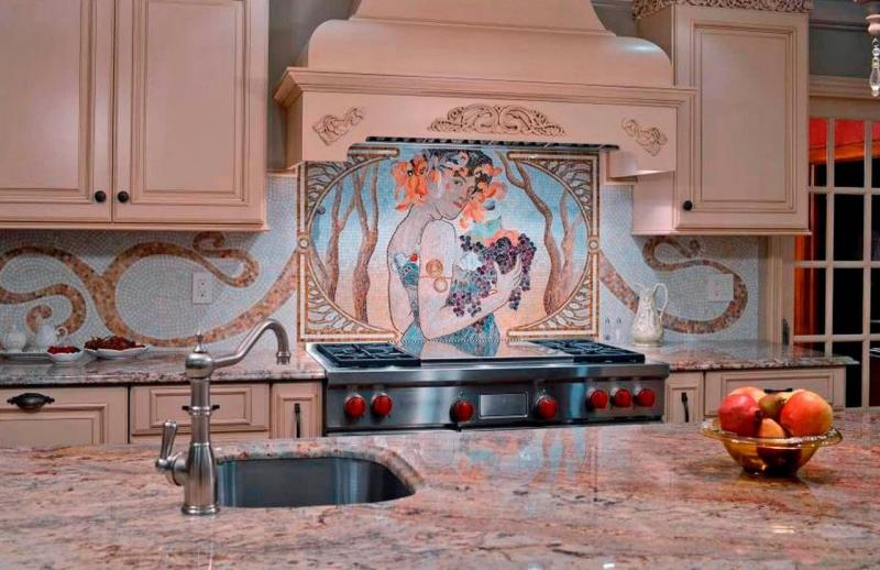 Фартук для кухни (мозаика) 2