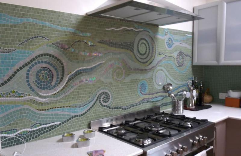 Фартук для кухни (мозаика) 3