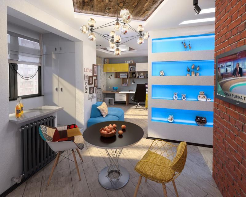 Кухня 9 кв.м в стиле лофт (Instilier, г. Москва) 2