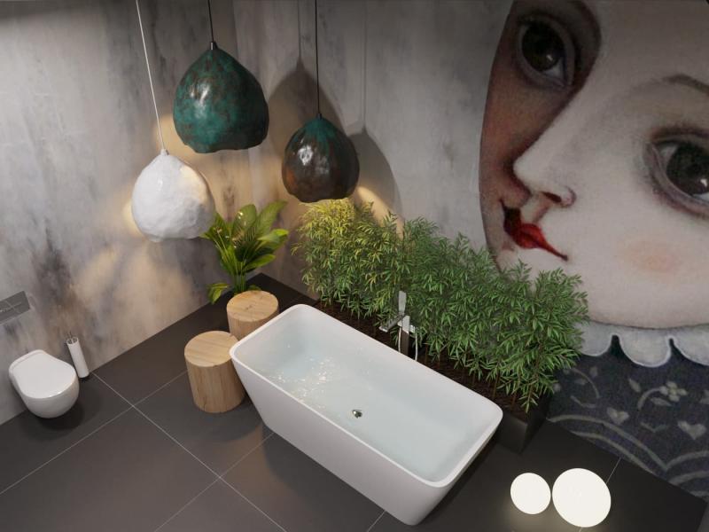 Сказка: Ванная комната в стиле эклектика