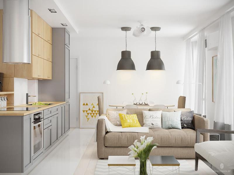 Интерьер трехкомнатной квартиры в скандинавском стиле