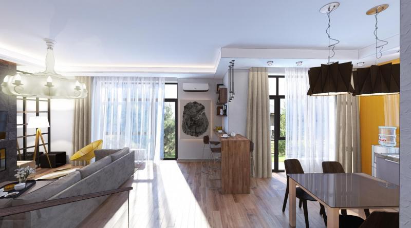 Дизайн-проект коттеджа площадью 129 кв.м.