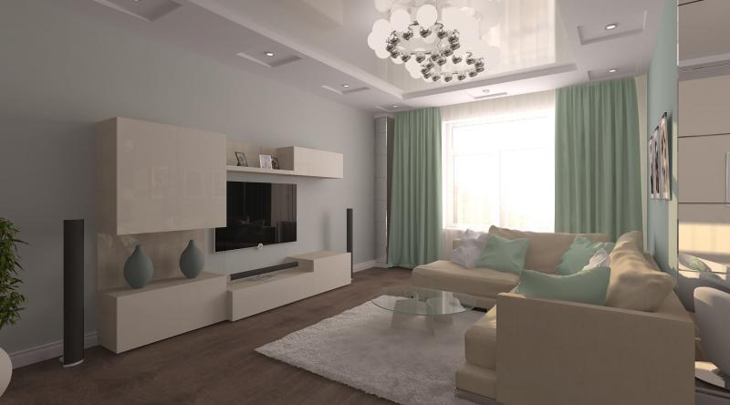 Дизайн-проект квартиры 90 кв.м. в стиле Tiffany&Co, 2014 год.