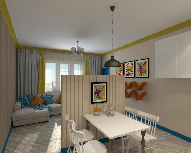 Необычная квартира-трешка для молодой семьи