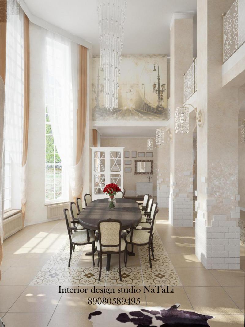 Дизайн интерьера частного дома в Долгодеревенске