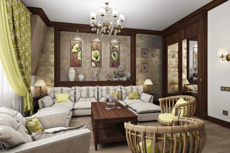"""Дизайн двухуровневой квартиры 157 кв.м. """"Мансарда"""" для семьи с ребенком"""