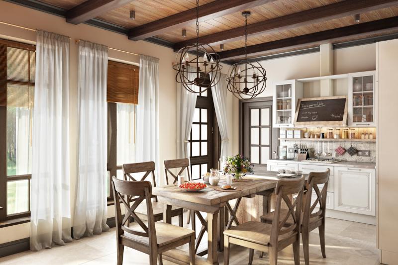 """Дизайн загородного дома """"Country Loft""""-1"""