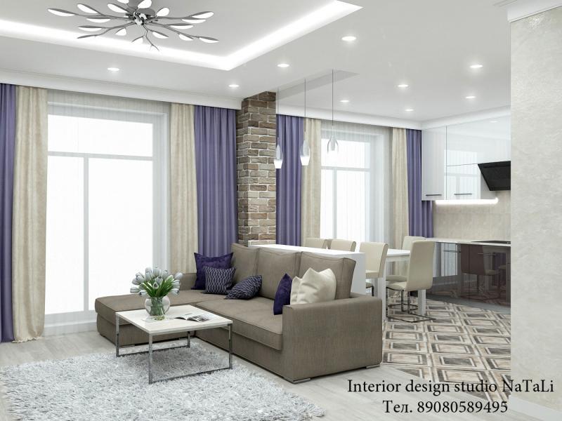 Дизайн проект квартиры в ЖК Ньютон