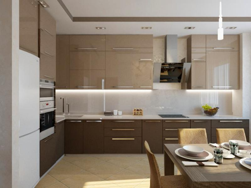 Кухня в современном стиле (Наталья Бучнева, г. Челябинск) 1