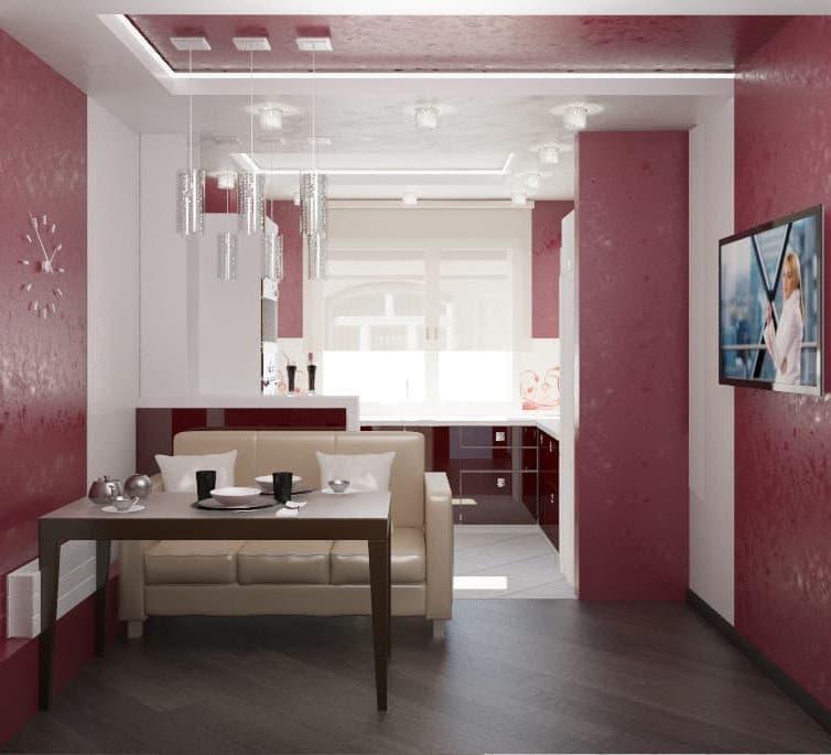 Кухня красного цвет (Наталья Бучнева, г. Челябинск) 2
