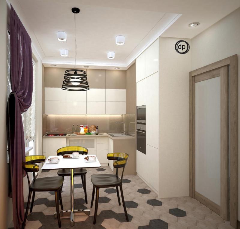 Кухня в бежевом цвете (Диана Пономарева, г. Москва) 1