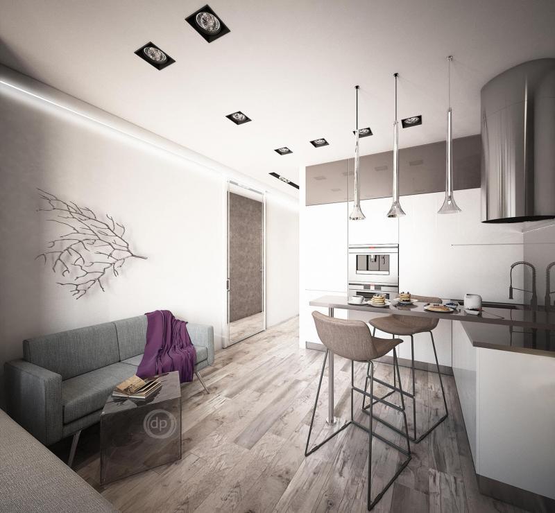 Кухня 12 кв. м (Диана Пономарева, г. Москва) 2