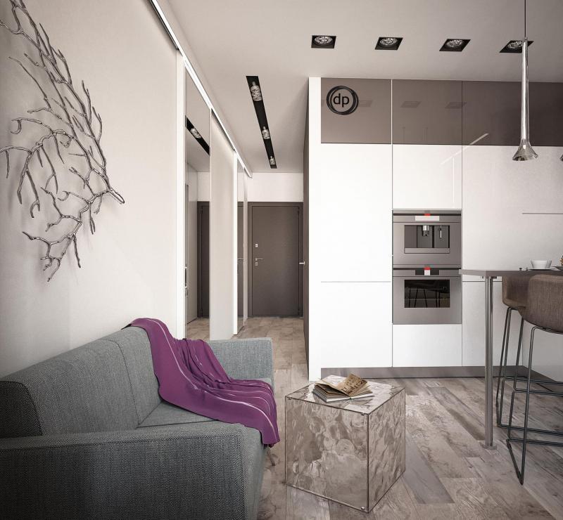Кухня 12 кв. м (Диана Пономарева, г. Москва) 4