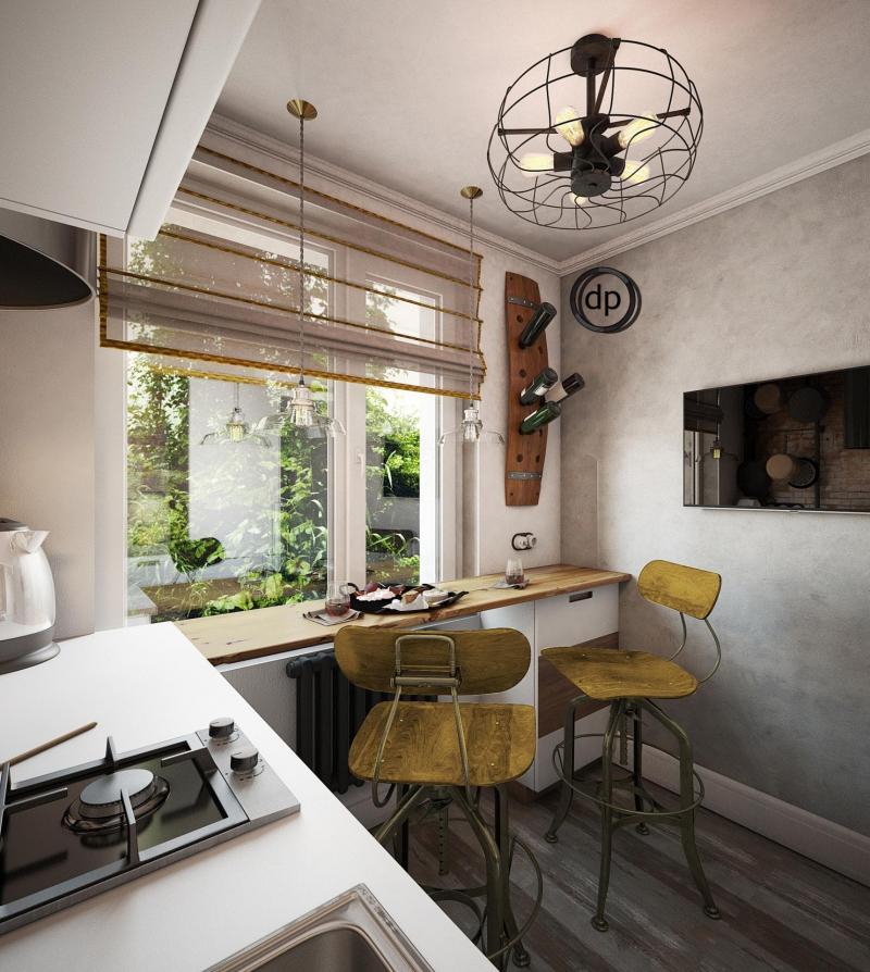 Кухня 6 кв.м (Диана Пономарева, г. Москва) 2