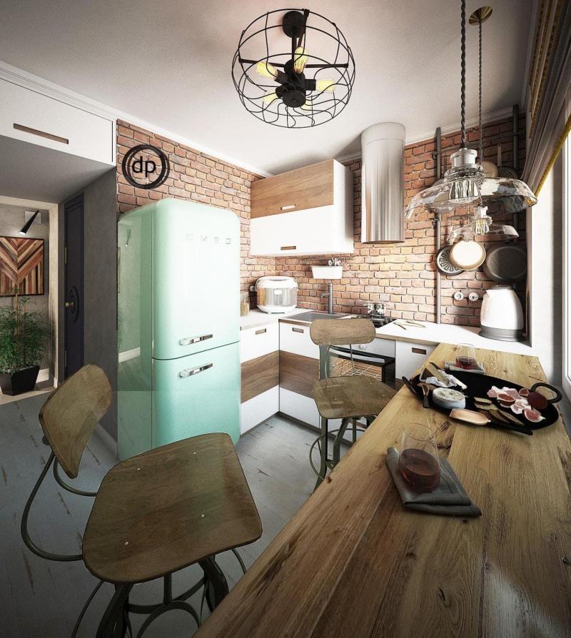 Кухня 6 кв.м (Диана Пономарева, г. Москва) 1