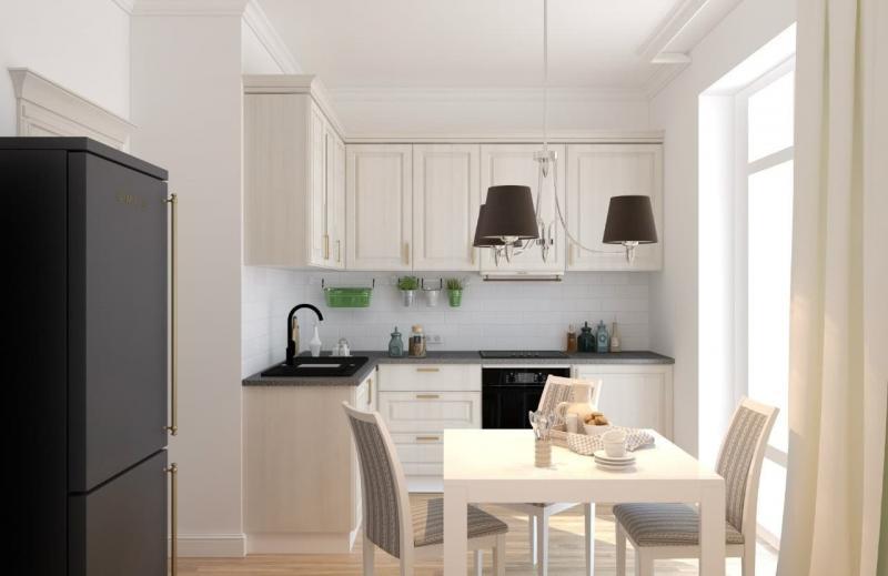 Кухня 9 кв. м в классическом стиле (op-2, г. Москва) 1