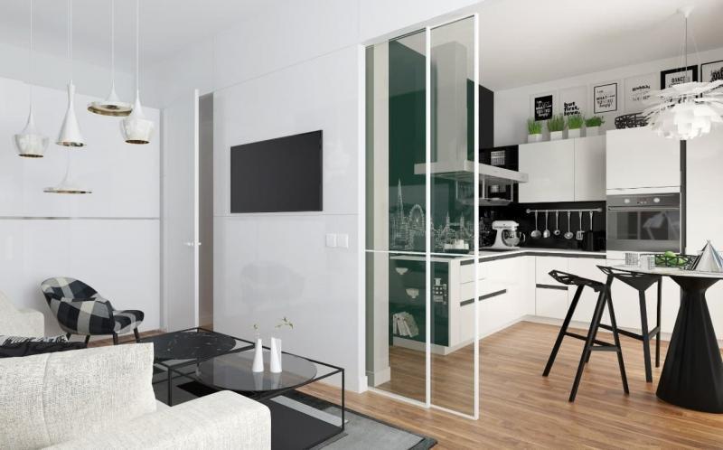 Кухня в черном и белом цвете (op-2, г. Москва) 2