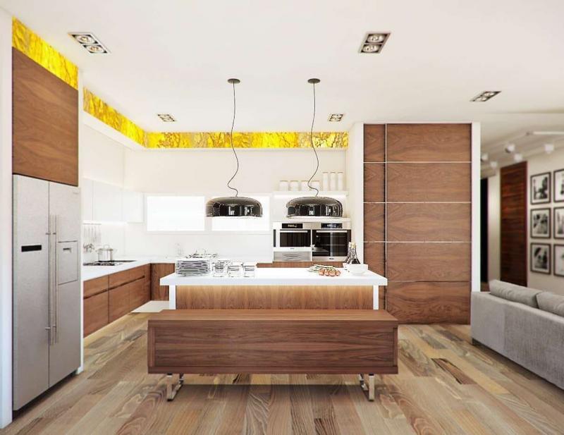 Интерьер кухни со столовой (lesh, г. Санкт-Петербург) 3